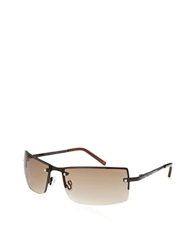 Kenneth Cole Reaction Men's Rectangle Sunglasses, Brown/Brown Gradient