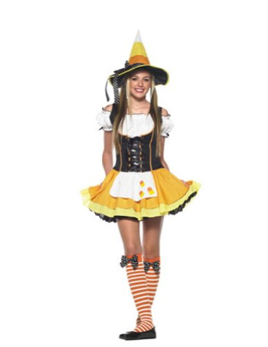 Kandy Korn Witch Teen Sm-Md Adult Womens Costume - Leg Avenue