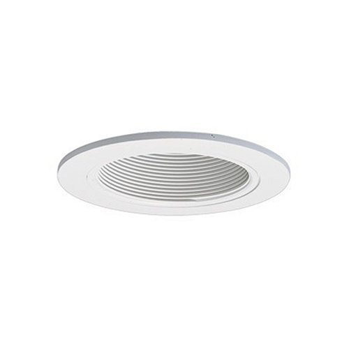 Cooper Lighting P300TWW One-Light 5-Inch Recessed Ceiling Light Fixture Kit with White Baffle and White Trim