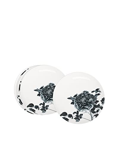 Elinno Blue Peony Set of 6 Dinner Plates, Blue