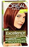 L'Oreal Paris Excellence To-Go 10-Minute Creme Coloring, Medium Reddish Brown 5RB