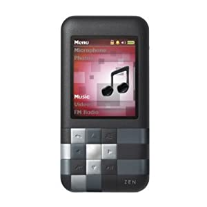 Creative Zen Mozaic Mosaic 4GB MP3 Player, Voice Recorder, Speaker, FM Radio - Black, NEW, BULK PACKAGED