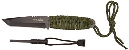 Survivor HK-106T Fixed Blade Knife with Fire Starter 8-Inch Overall