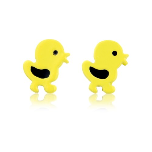Children's / Women's Yellow chick earrings -