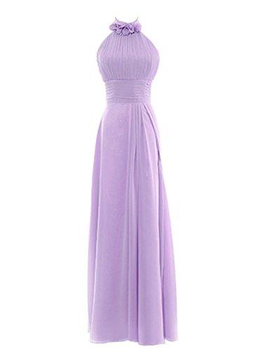 4b0bcfdd972 Snowskite Womens Halter Long Chiffon Bridesmaid Evening Dress size 18  Lavender