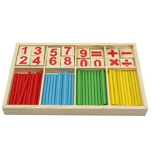 Child Kids Preschool Math Manipulatives Wooden Counting Sticks Educational Toys