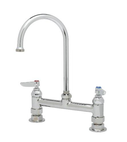 Ts Brass B-0321 Deck Mixing Faucet, Chrome