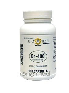 Vitamin B-2 400 mg 100 Capsules by Bio-Tech