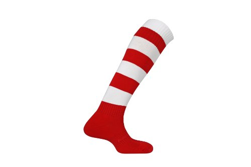 mitre-mercury-hoop-football-sock-scarlet-white-size-7-12