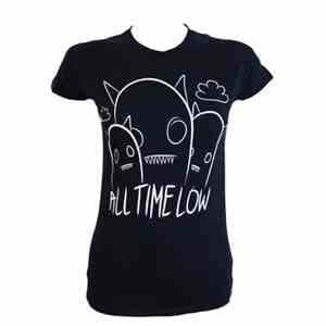 All Time Low Ghosts Ladies Fitted T-shirt (X Large)