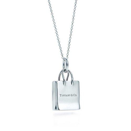 TIFFANY&Co. ティファニー ネックレス Tiffany & Co. ショッピング バッグ ペンダント 並行輸入品 (品番:284)