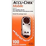 (512)accu chek mobile blood 100 test 2 casettes