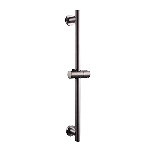 KES Bathroom Adjustable Slider Bar ROUND Wall Mount, Brushed SUS 304 Stainless Steel, F204-2 (Shower Head Sliding Bar compare prices)