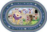 "Joy Carpets Kid Essentials Infants & Toddlers Oval Humpty Dumpty Rug, Multicolored, 5'4"" x 7'8"""