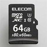エレコム microSDXCメモリカード 64GB class10 UHS- /U3 MF-MS064GU13R