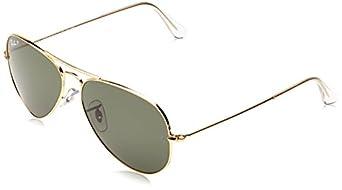 Ray-Ban Men's Aviator TM Large Metal Oval Sunglasses,Arista,55 mm