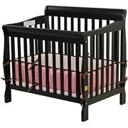 Dream On Me Aden 3-In-1 Fixed-Side Convertible Mini Crib, Black front-879331