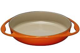 Le Creuset Enameled Cast-Iron 9-3/4-Inch Round Tarte Tatin Pan, Flame