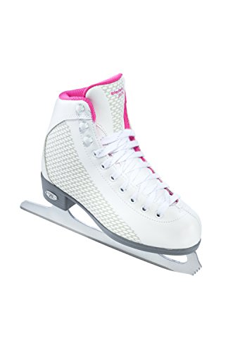 Riedell 13 2015 Model Figure Skates Sparkle (White/Pink, 13) (Little Models compare prices)