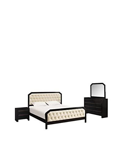 Modway Tommy  4 Piece Bedroom Set, Black