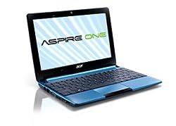 Acer Aspire One D270 - Ordenador portátil 10.1 pulgadas (Atom N270, 1 GB de RAM, 1.6 GHz, 320 GB, Win 7 Starter) - Teclado QWERTY español