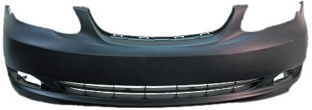 OE Replacement Toyota Corolla Front Bumper Cover (Partslink Number TO1000297)