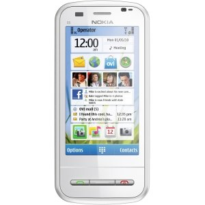 Nokia C6 Smartphone - Wi-Fi - Slider - White. NOKIA C6-00 WHT TOUCH QWERTY 2GB MSD 5MP GPS 3G UNLOCKED GSM CELL. Symbian OS 9.4 - 2 GB - microSD - 3.2' LCD 640 x 360 - 5 Megapixel Camera - Quad Band - Yes - Bluetooth - USB - 11 Hour Talk Time