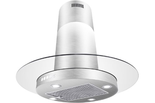 "Firebird New 30"" European Style Island Mount Stainless Steel Range Hood Vent Push Button Control Fbak-1D01-Sg-Is 30"""