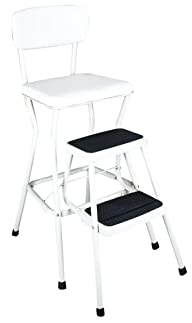 Cosco 11-18WHT Retro Chair/Step Stool…