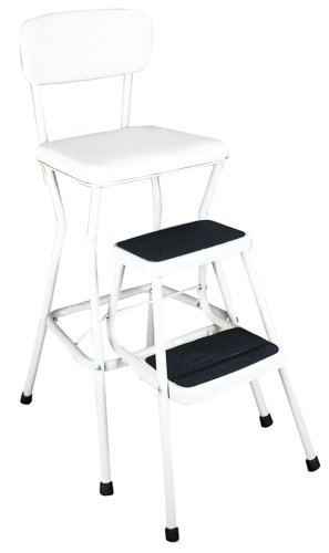 Cosco 11-18WHT Retro Chair Step Stool WhiteB0000B36BT : image