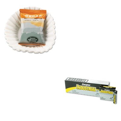 Kiteveen91Gmt5161 - Value Kit - Green Mountain Coffee Roasters Vermont Country Blend Decaf Coffee Fraction Packs (Gmt5161) And Energizer Industrial Alkaline Batteries (Eveen91)