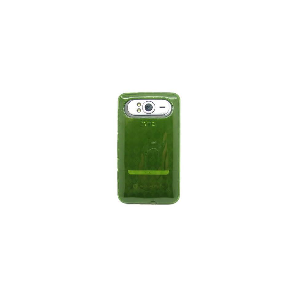 Flexi Gel SKin TPU Glove with GREEN CHECKERED Design Soft