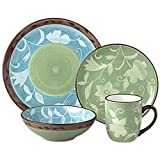 Pfaltzgraff Patio Garden 48-Piece Dinnerware Set, Service for 12