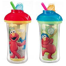 Munchkin Sesame Street 2 Pack Insulated Straw Cups Click Lock - Styles Vary! - 1