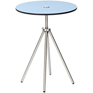 ZACK 50772 ACRON side table, blue ; veriable height