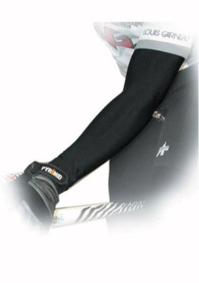 Image of Pace P3+ PolyPro Cycling Arm Warmer (Black, Large) (02-2505LG)