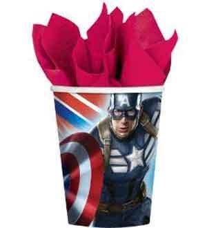 Captain America Cup 9 Oz 8 Ct [6 Retail Unit(s) Pack] - 581363