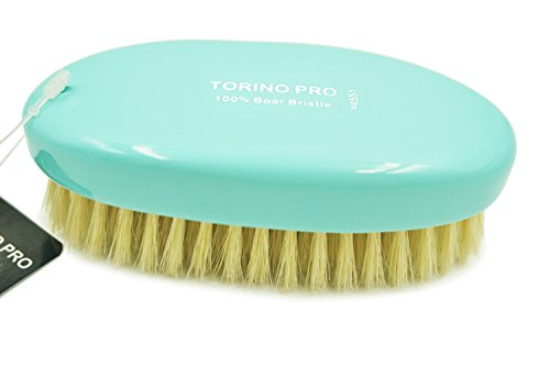 TORINO PRO #4551 MILITARY- SOFT BRISTLE HAIR BRUSH -PERFECT FOR THINNING HAIR- 100 PERCENT PURE BOAR BRISTLES - GREAT FOR ALL 360,540,720 WAVES-- Exceptional Quality WAVE BRUSH (Medium Hair Brush For Men compare prices)