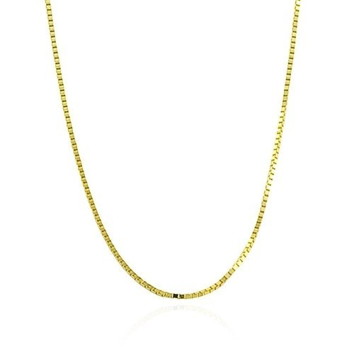 Bling Jewelry Gold Vermeil Unisex Box Link Chain Necklace 019 Gauge