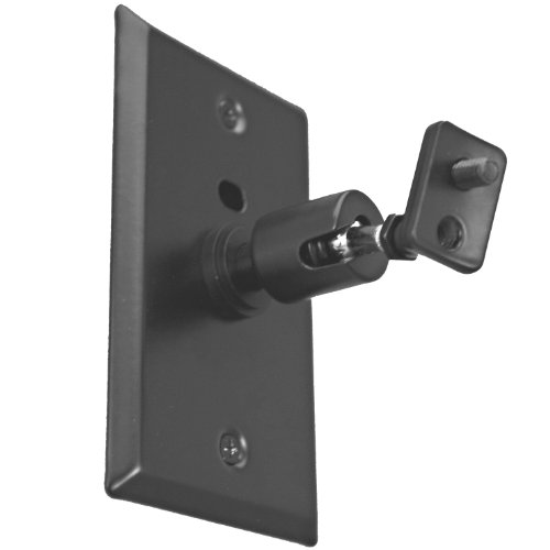 Pinpoint Mounts Am21-Black Universal Home Theater Speaker Wall Ceiling Mount With Electrical Box Installation Adapter Plate