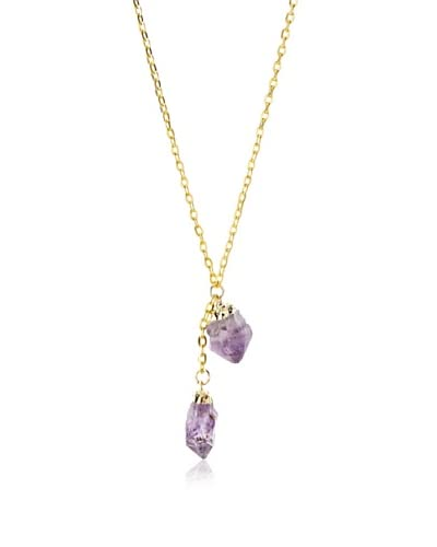 Privileged Double Amethyst Crystal Necklace