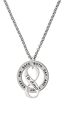 buy Te Amo Infinity Sign Keep Him Safe Affirmation Ring Necklace