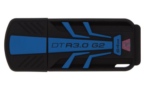 Kingston - DTR30G2/64GB - DataTraveler R3.0 G2 - Clé USB 3.0 - 64 Go - Noir/Bleu