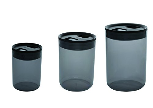 Click Clack Kitchen Style Tinted Storage Canisters, 1-Quart, 2.4-Quart and 4.2-Quart, Set of 3 (Click Clack Containers Set compare prices)
