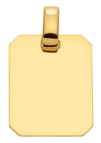 Damen Schmuck Gold Gravurplatte eckig aus 333 Gelb Gold ( 14,9 x 18 mm ) günstig kaufen