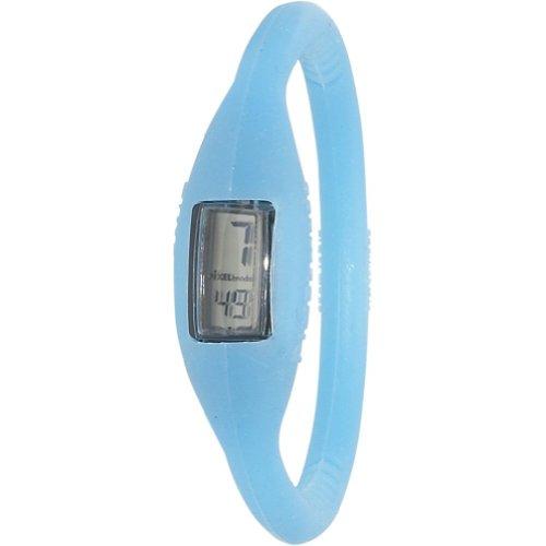 Pixelmoda Digital BABY BLUE Color Water Resistant Italian Style Unisex Silicone Watch – MEDIUM 16 CM