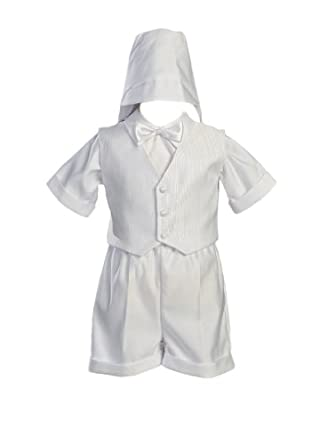 5caf8e56fb9c7 White Satin Christening Baptism Short Set with Vest and Hat · view  recommendations for this product. Overall