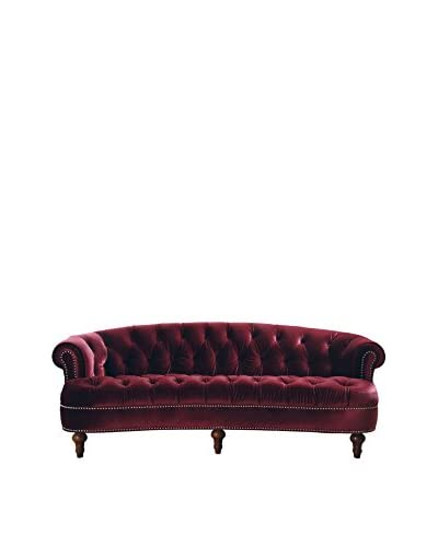 Jennifer Taylor Home La Rosa Sofa, Burgundy
