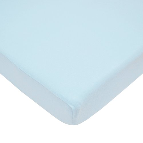 Buy Cheap American Baby Company 100% Cotton Value Jersey Knit Fitted Pack N Play Sheet, Blue
