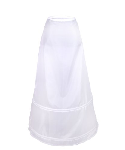 Flora Women's 2 Hoop Bridal A-Line Petticoat Slight Full Skirt